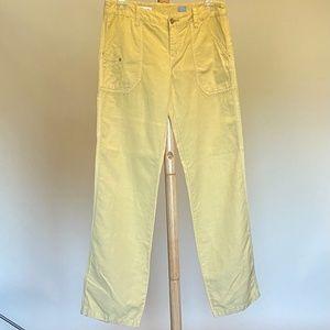 Anthropologie Pilcro Yellow Carpenter Pants Sz 6